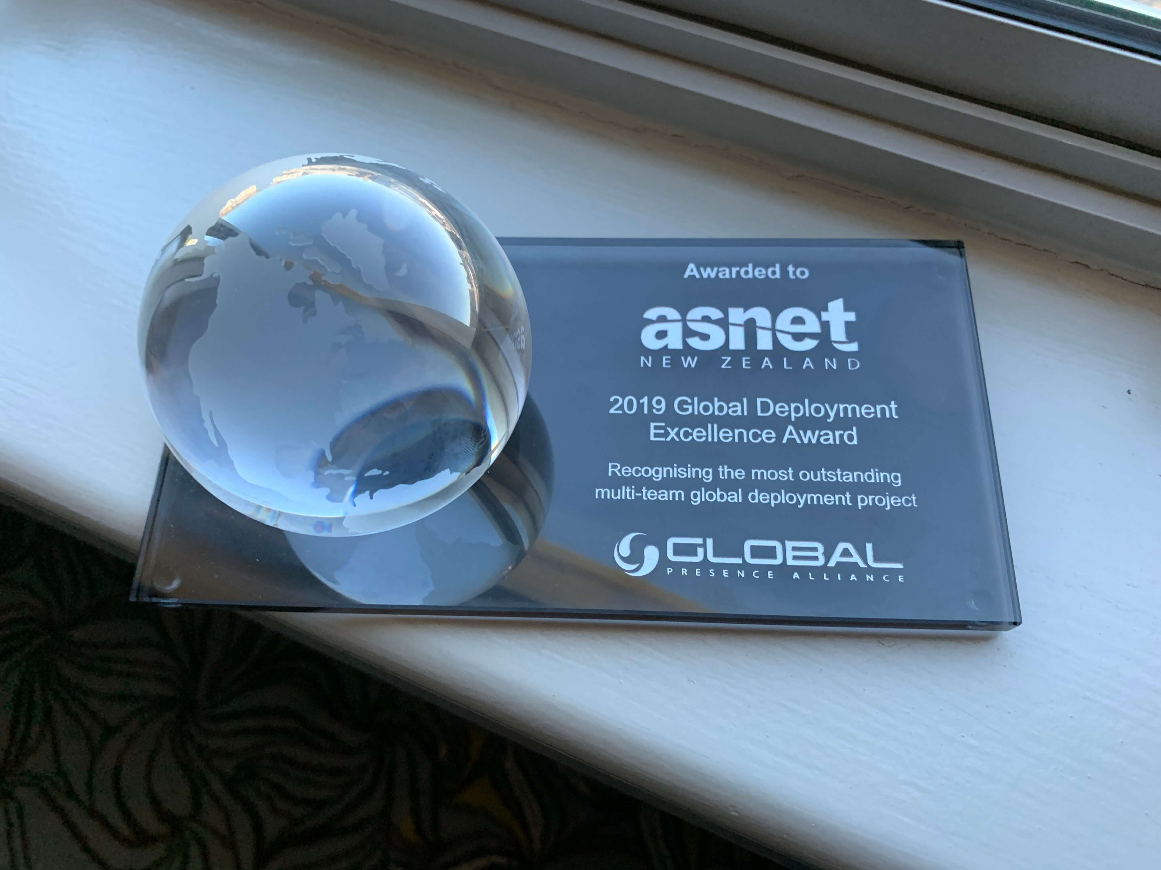 2019 Global Deployment Excellence Award